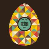 Easter egg in retro style. Stock Images