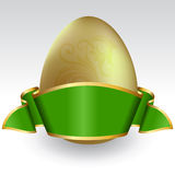 Easter egg with ribbon Royalty Free Stock Photos