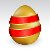Easter egg with ribbon Royalty Free Stock Image