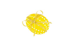 Easter egg with ribbon. Isolated on white background Stock Photos