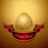 Easter egg and ribbon Stock Photo