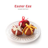 Easter egg with ribbon Stock Photography