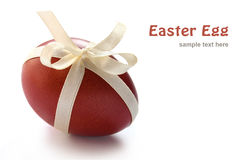 Easter egg with ribbon Stock Photos