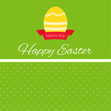 Easter egg with ribbon banner Stock Photo