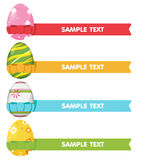 Easter Egg Ribbon Border Color Stock Photos