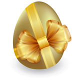 Easter egg with ribbon and bow Royalty Free Stock Photo