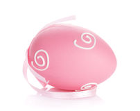 Easter egg with ribbon Royalty Free Stock Photo