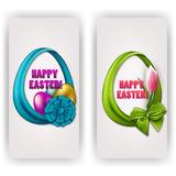 Easter egg with ribbons, bow Stock Photo