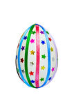 Easter egg with ribbons and sequins Royalty Free Stock Images