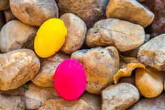 Easter egg on the rock Royalty Free Stock Images