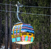 Easter egg ropeway Royalty Free Stock Image