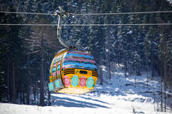 Easter egg ropeway Stock Photography