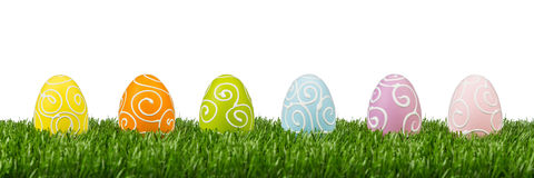 Easter egg row Stock Photography