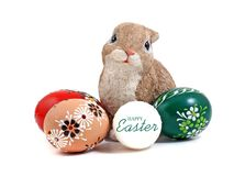 Easter egg s and bunny. Stock Image