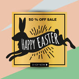 Easter egg sale banner background template_25 Stock Images