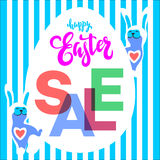 Easter egg sale banner background template Stock Photo
