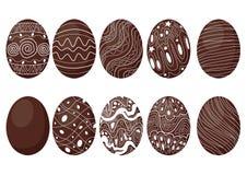 Easter Egg-Schokolade und -milch Entwurf stock abbildung