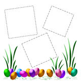 Easter egg scrapbook Royalty Free Stock Images
