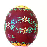 Easter egg scraped. By hand stock photo