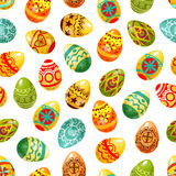 Easter egg seamless pattern background Royalty Free Stock Photos