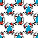 Easter egg seamless pattern Stock Images