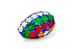 Easter Egg with sequins of flowers Stock Photo