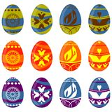Easter egg set Royalty Free Stock Images
