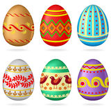 Easter egg set Stock Photo