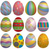Easter egg set Stock Photos