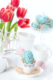 Easter Egg Setting Royalty Free Stock Images