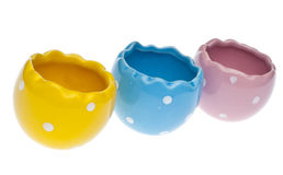 Easter Egg Shaped Bowls Stock Photography