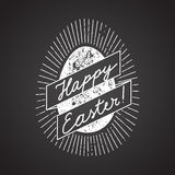 Easter egg sign. chalk calligraphy. Vector illustration Royalty Free Stock Images