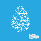 Easter egg sign icon with curved lines Royalty Free Stock Photos