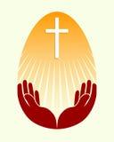 Easter egg silhouette Stock Images