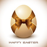 Easter Egg with Silky Bow Royalty Free Stock Photography