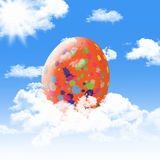 Easter egg on sky Royalty Free Stock Photo