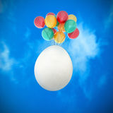Easter egg on the sky Royalty Free Stock Photography