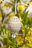 Easter egg. The Slovak traditional easter egg in detail Royalty Free Stock Photography