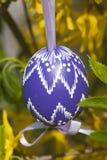 Easter egg. The Slovak traditional easter egg in detail Stock Photo