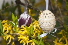 Easter egg. The Slovak traditional easter egg in detail Stock Image