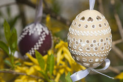 Easter egg. The Slovak traditional easter egg in detail Royalty Free Stock Photos