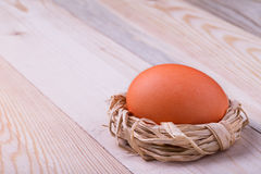 Easter egg in small nest Stock Images