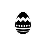 Easter egg solid icon, religion holiday elements. Egg with lines, a filled pattern on a white background, eps 10 vector illustration