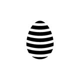 Easter egg solid icon, religion holiday elements,. Egg with lines, a filled pattern on a white background, eps 10 vector illustration