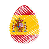 Spanish flag in easter egg Royalty Free Stock Photo