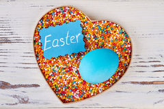 Easter egg and sprinkle dots. Royalty Free Stock Photo