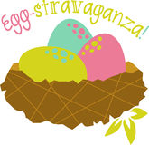 Easter Egg-stravaganza Nest Stock Images