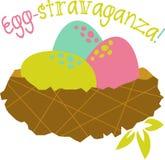 Easter Egg-stravaganza Nest Stock Images