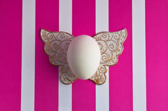 easter egg on a striped background Royalty Free Stock Photos