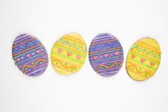 Easter egg sugar cookies. Royalty Free Stock Photography